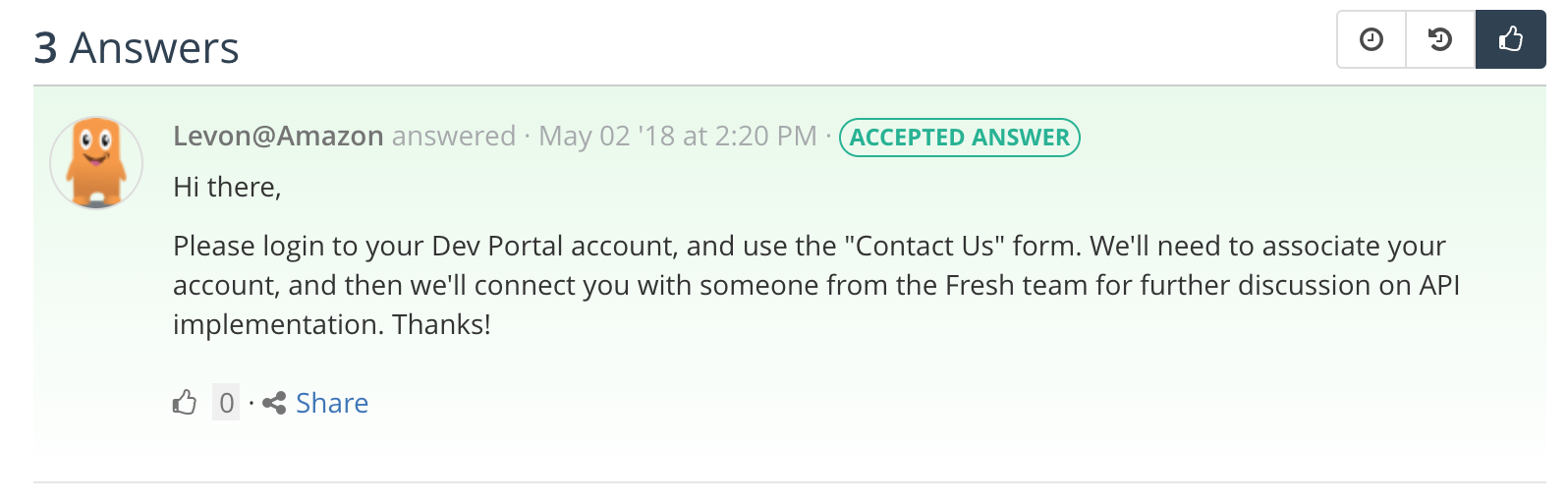 Amazon Fresh API - possibly?